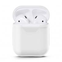 Husă de protecţie impermeabilă, din silicon, pentru k Apple AirPods - alb
