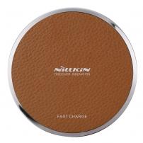 Încărcător wireless / suport de încărcare rapidă NILLKIN Qi Magic Disk III, pentru Apple iPhone - maro