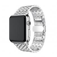 Curea elegantă din oţel inoxidabil, pentru Apple Watch 44mm / Watch 42mm - argintiu