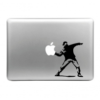 Autocolant decorativ detaşabil Hat-Prince, pentru Apple MacBook - Banksy