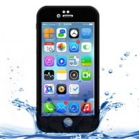 Husă / carcasă impermeabilă pentru Apple iPhone 8 / 7 - neagră, cu model de diamante